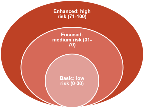 Risk chart example